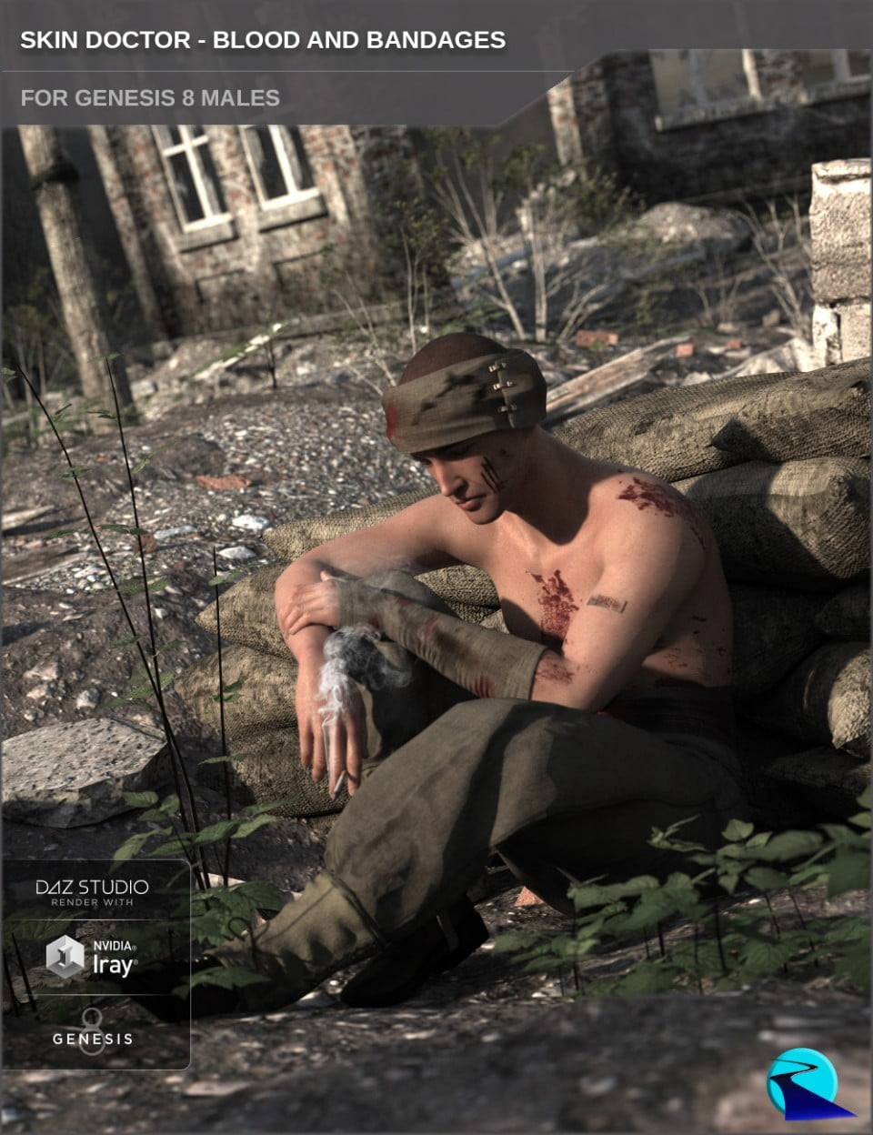 Skin Doctor – Blood and Bandages for Genesis 8 Male(s)