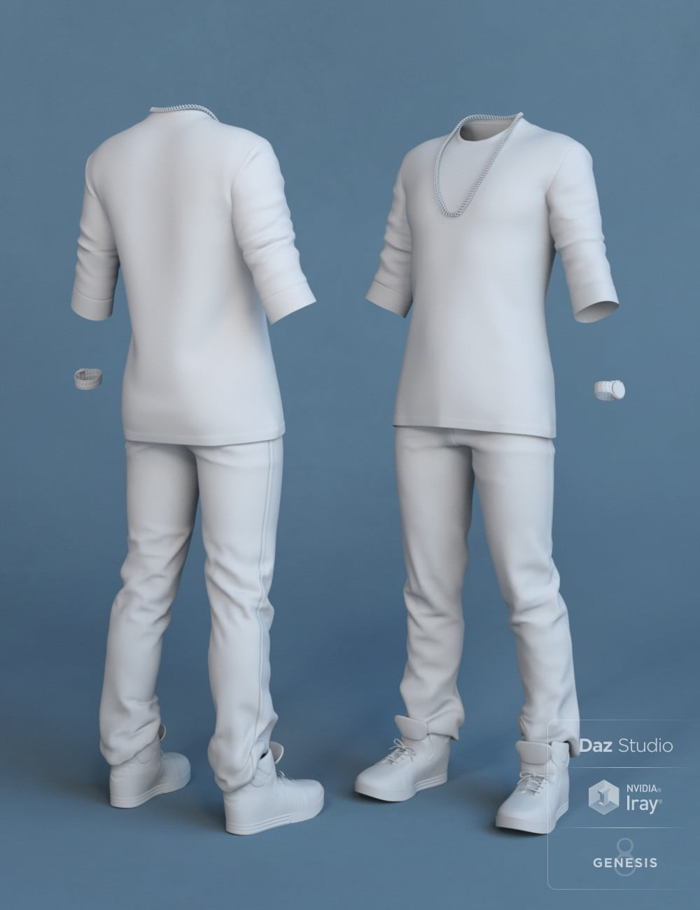 Street Style Outfit for Genesis 8 Male(s)