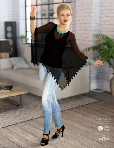 dForce Breezy Day Outfit for Genesis 8 Female(s)