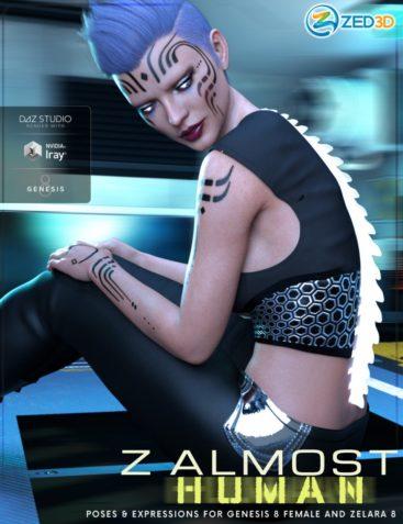 Z Almost Human - Poses and Expressions for Genesis 8 Female and Zelara 8