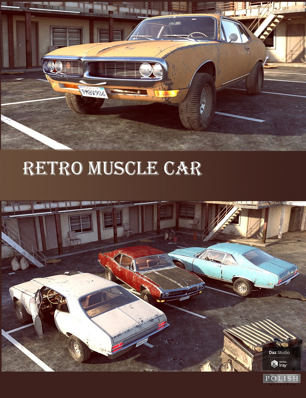 Retro Muscle Car