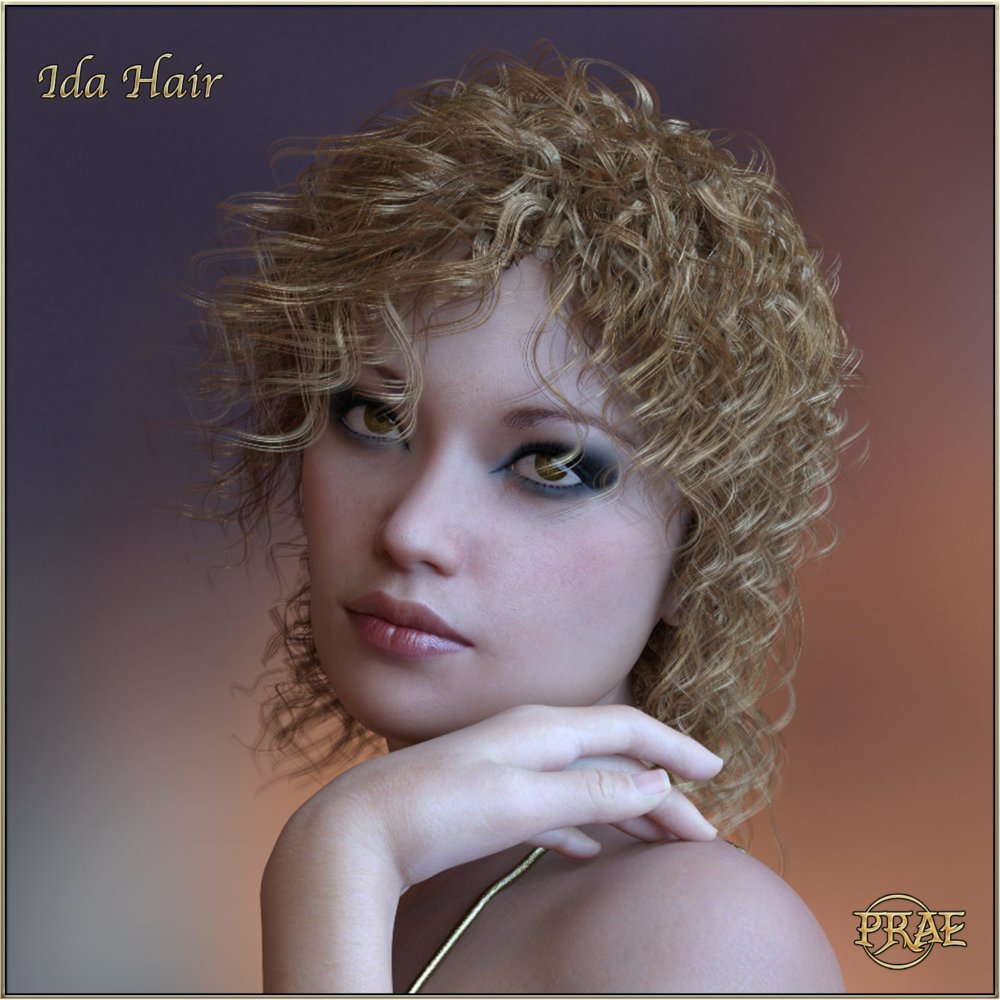 Prae Ida Hair For G3/G8 Daz