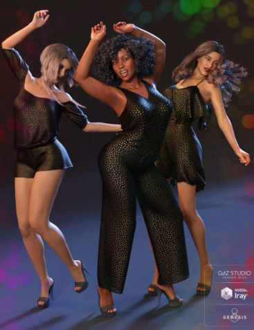 Dancing Queen Poses and Expressions for Genesis 8 Female and Latonya 8