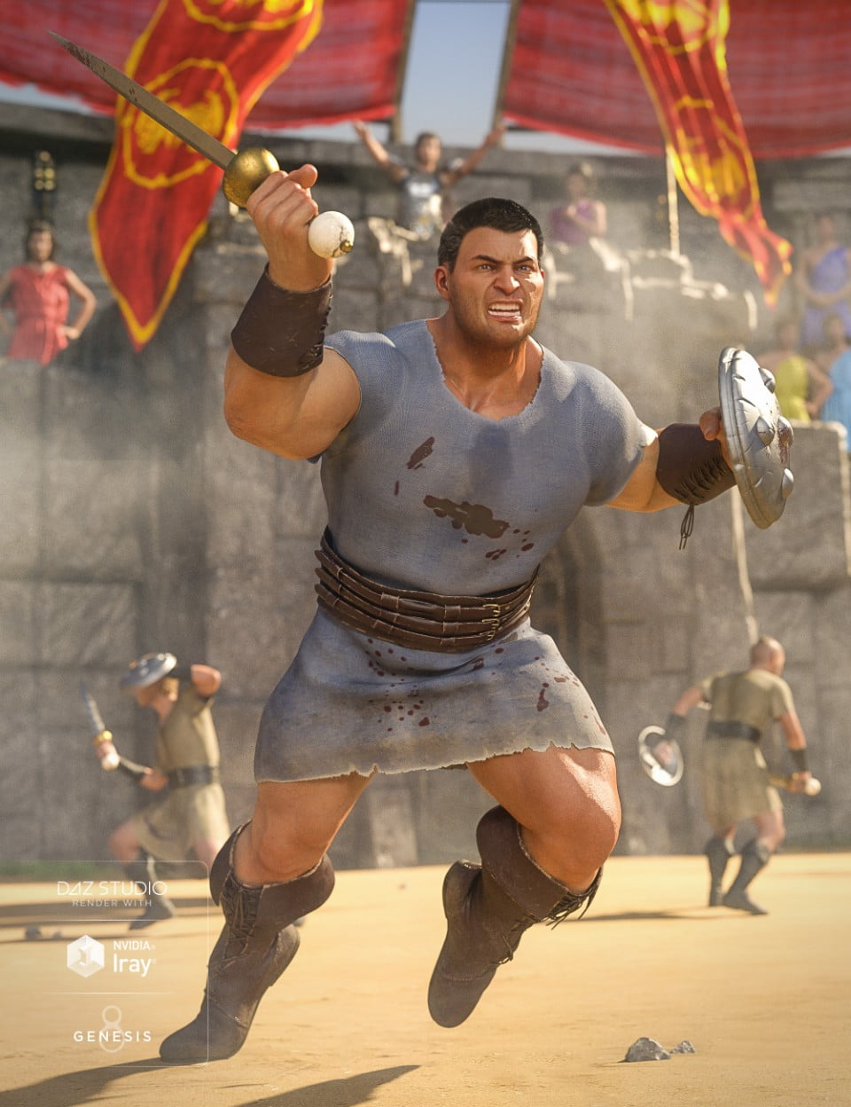 dForce Orelius Gladiator Outfit for Genesis 8 Male(s)