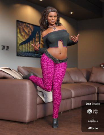 dForce Panthera Outfit for Genesis 8 Female(s)