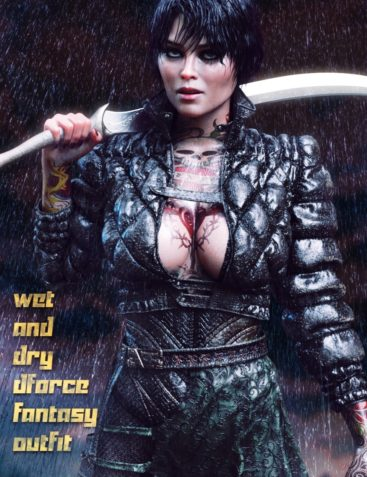 dForce Wet and Dry Dark Fantasy Outfit for Genesis 8 Female(s)