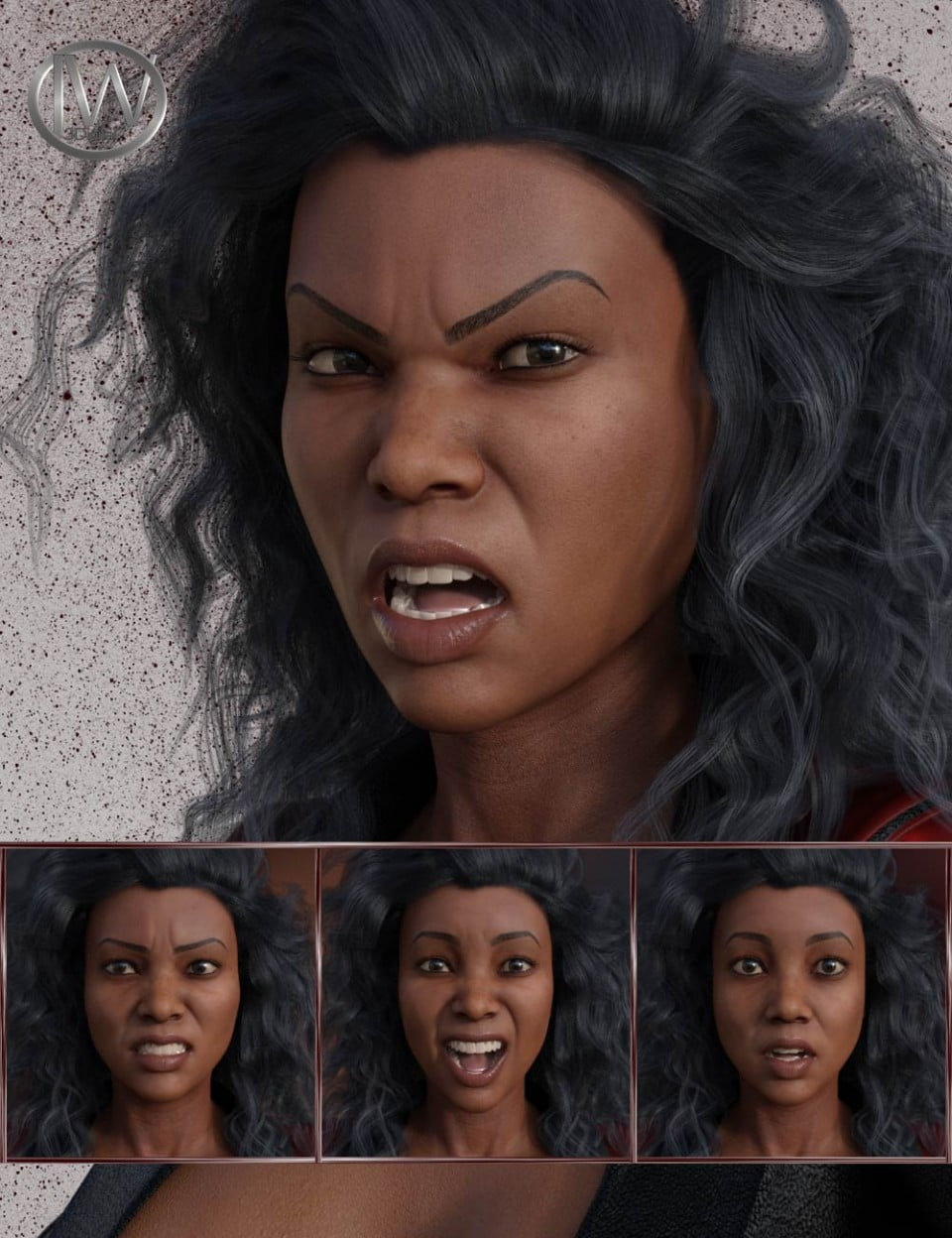 Just Attitude - Expressions for Genesis 8 Female and Latonya 8