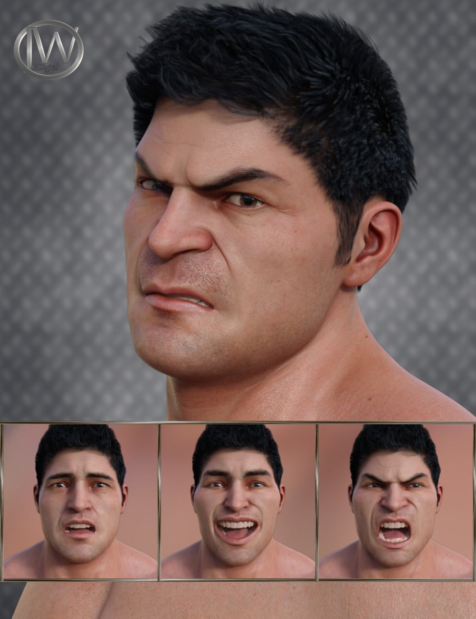 Strong Man – Expressions for Genesis 8 Male and The Brute