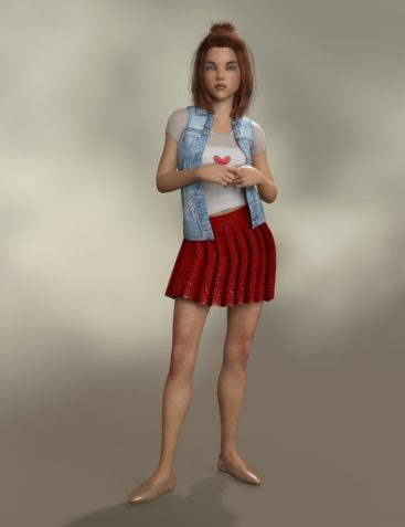 Pleated Skirt Outfit for Genesis 8 Female(s)