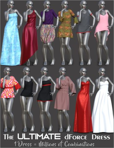 dForce Multi Dress System for Genesis 8 Female(s)