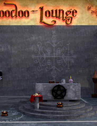 Voodoo Lounge scene for DAZ Studio Iray