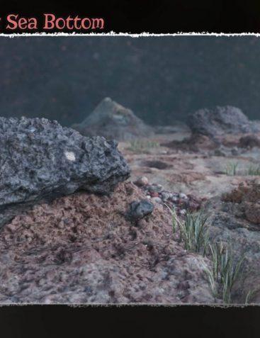 3D Scenery: Volcanic Seabottom for Poser and Daz Studio