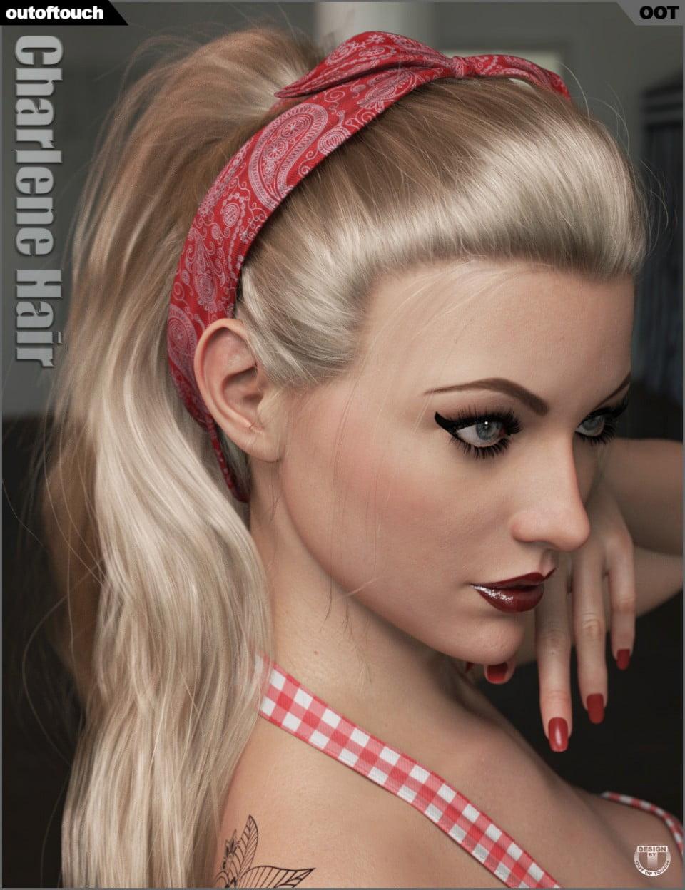 Charlene Hair for Genesis 3 and 8 Female(s)