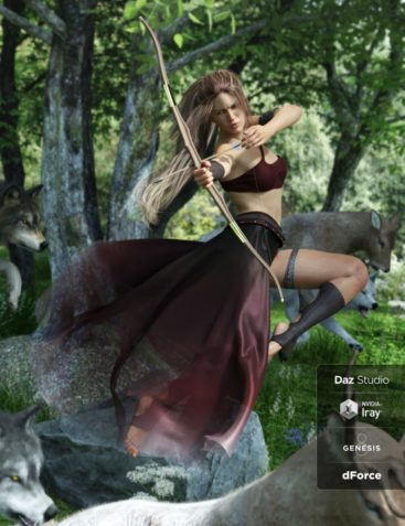 dForce Artemis Outfit for Genesis 8 Female(s)