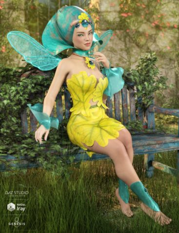 dForce Morning Bloom Outfit Textures