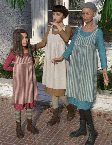 dForce Nostalgia Dress for Genesis 8 Female(s)
