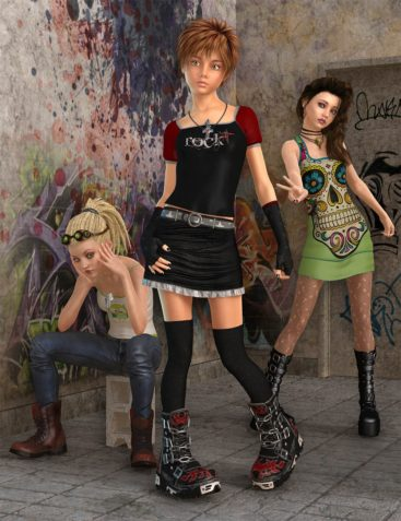 Capsces Goth Punk Teen Josie 7