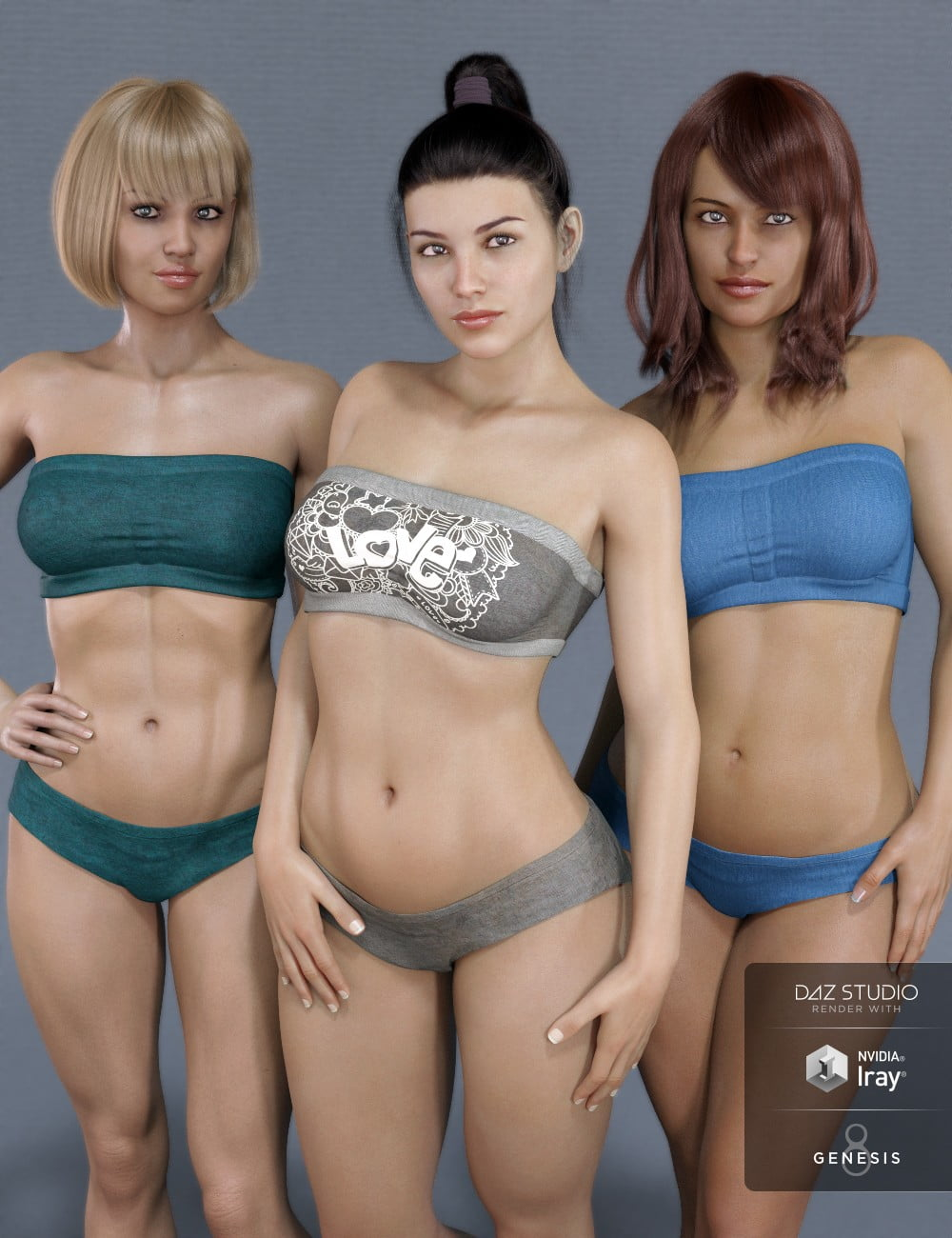 Mesmerizing Faces & Bodies for Genesis 8 Female