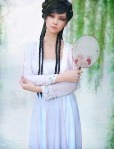 dForce Hanfu Dress for Genesis 8 Female(s)