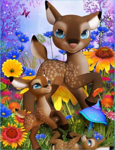 Little Darling Deer Graphics