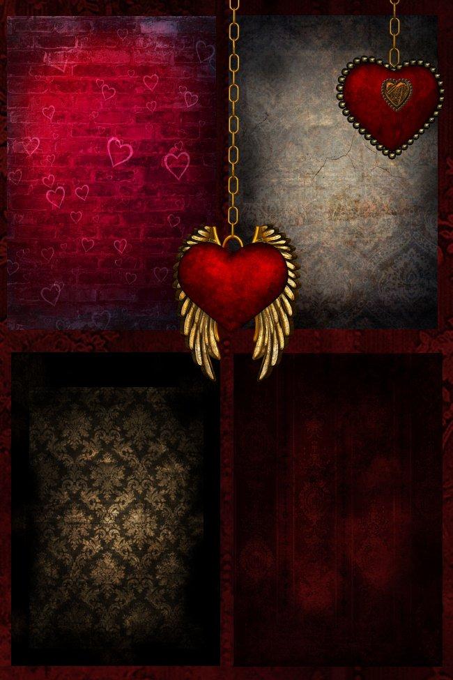 Steampunk Love Background Graphics