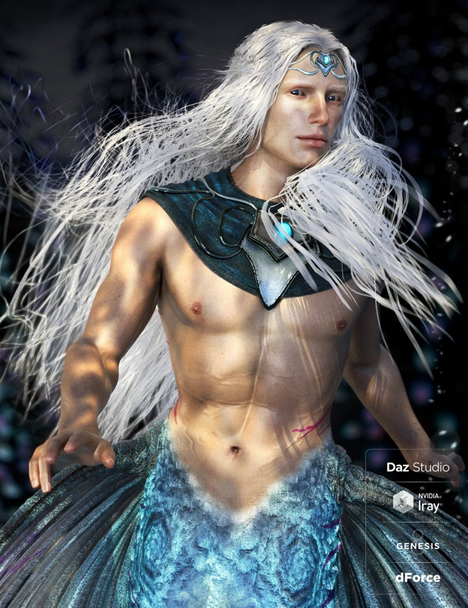 Alascanus Hair for Genesis 8 Male(s) with dForce