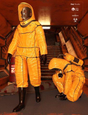 BioHazard Suit for Genesis 8 Male(s)