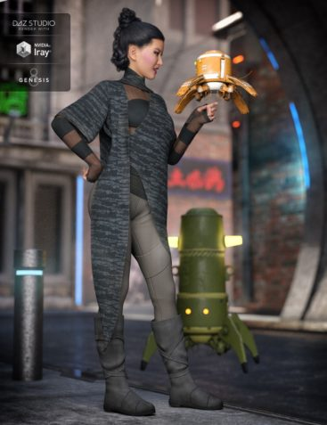 dForce Dystopian Future Outfit for Genesis 8 Female(s)