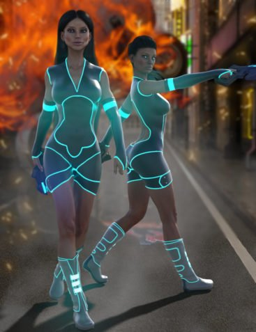 BLACKHAT:FUTURISTIC - Hyper Outfit for Genesis 3 Females