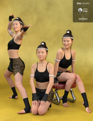 Tai Chi and Everyday Poses and Expressions for Mei Lin 8 and Genesis 8 Female(s)
