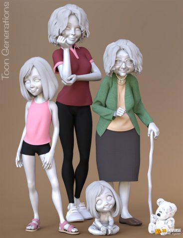 Toon Generations dForce Clothing for Genesis 8 Female(s)