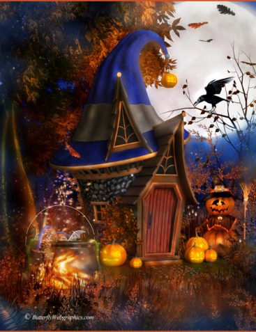 Witch Hat House Graphics