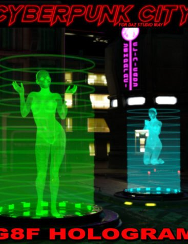 Cyberpunk City G8F Hologram for DS Iray