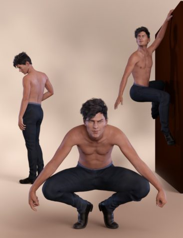 Bold Poses and Expressions for Nix 8 and Genesis 8 Male