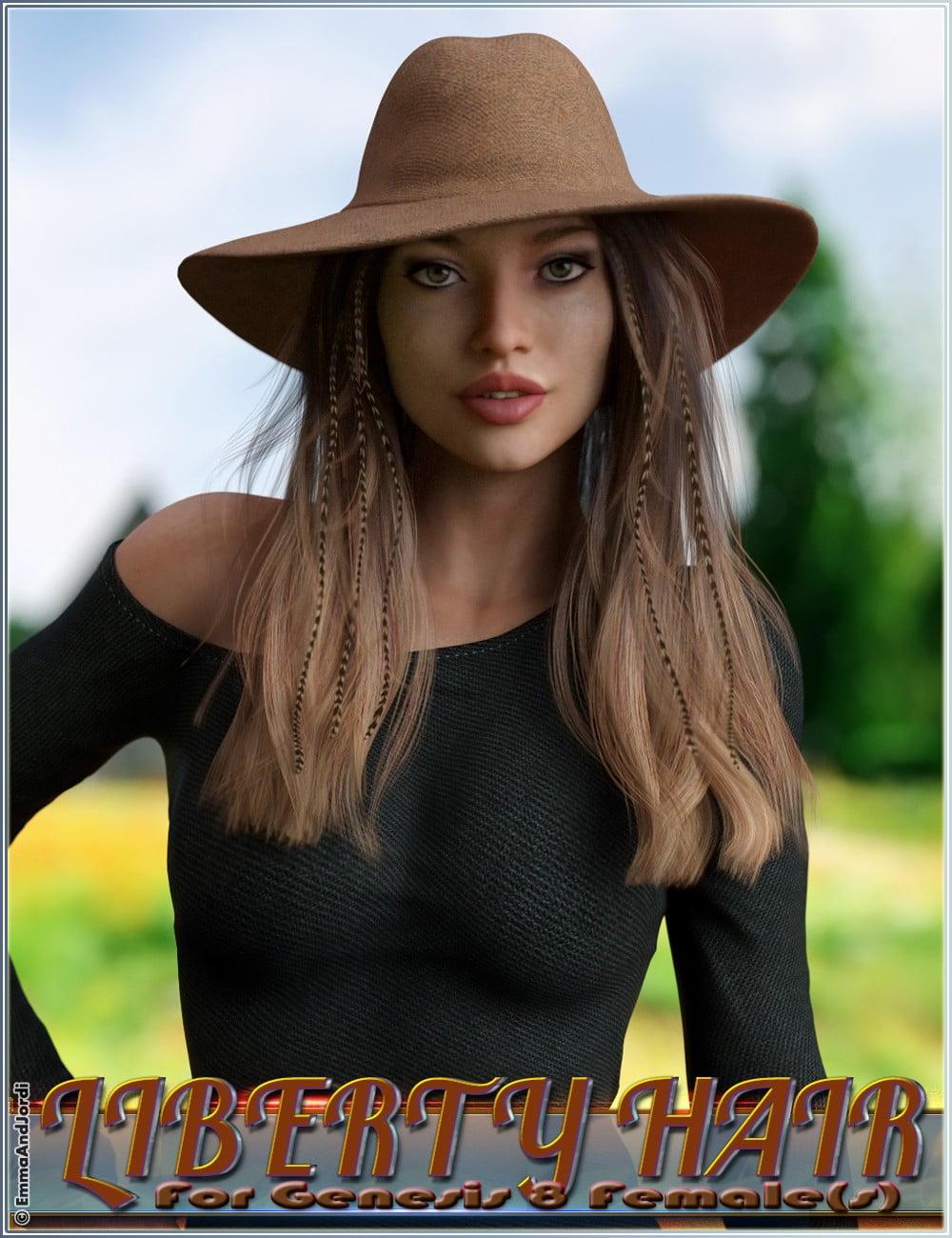 Liberty Hair For Genesis 8 Females