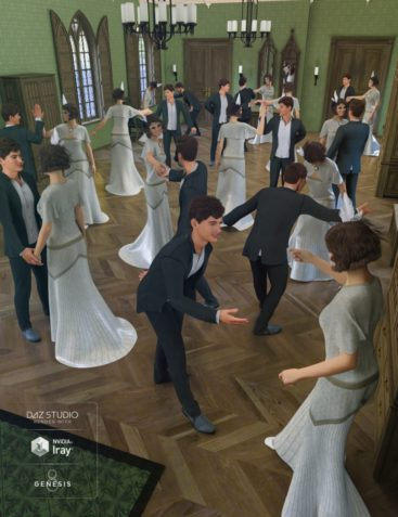 Rosemill Moor Country Dance Poses for Genesis 8