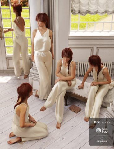 Rural Chateau III Retreat Poses Genesis 8 Female