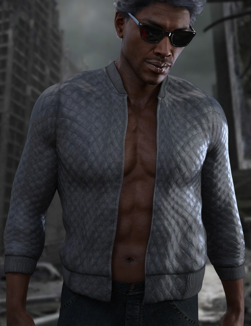 X-Fashion Faux Leather Jacket for Genesis 3 Male(s)