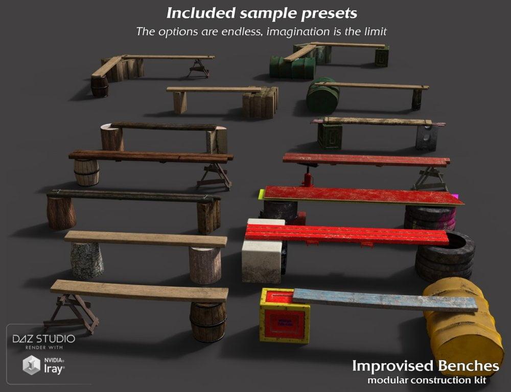 Improvised Benches Construction Kit