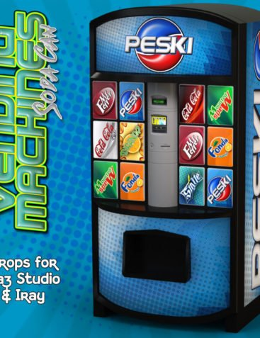 Exnem Vending Machines Soda Cans for Daz Studio and Iray