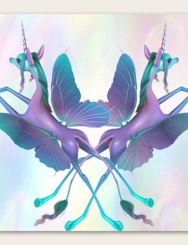 Fairytale Wings for the Unicorn for DAZ Studio