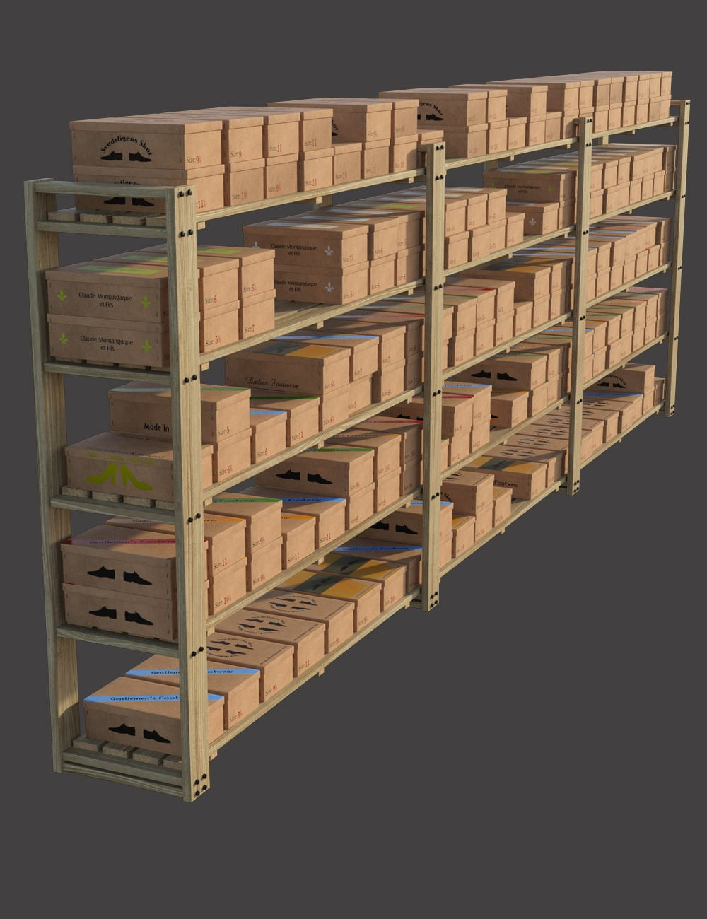 Shoe Boxes and Store Props
