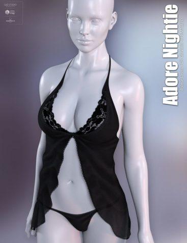dForce Adore Nightie for Genesis 8 Females