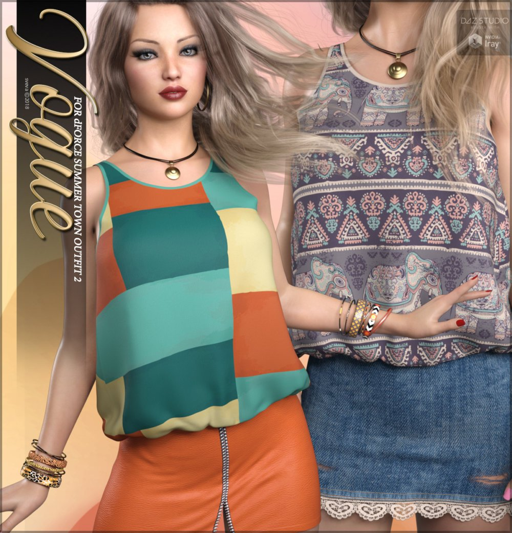 Vogue for dForce Summer Town Outfit 2