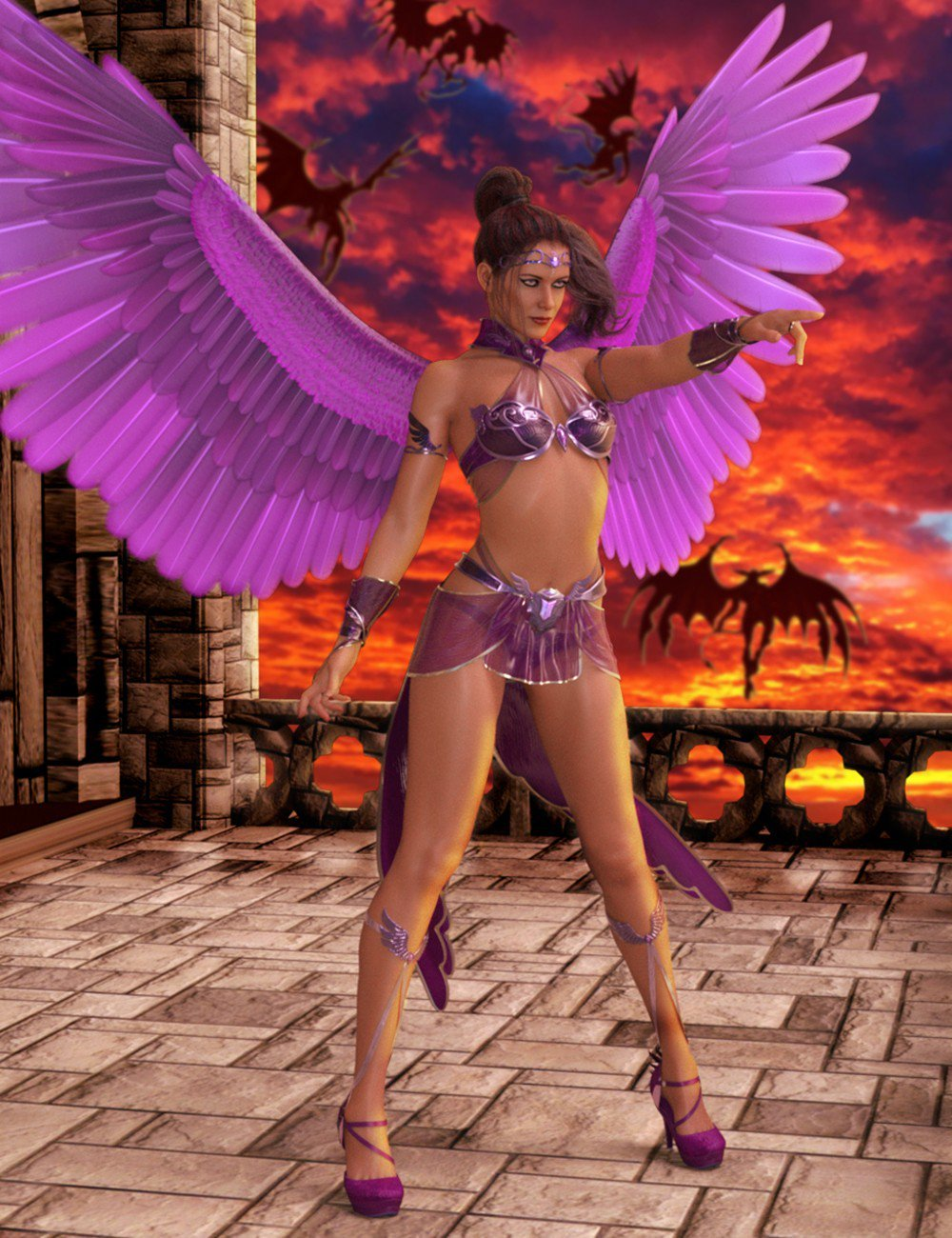 Archangel Outfit and Props for Genesis 8 Female(s)