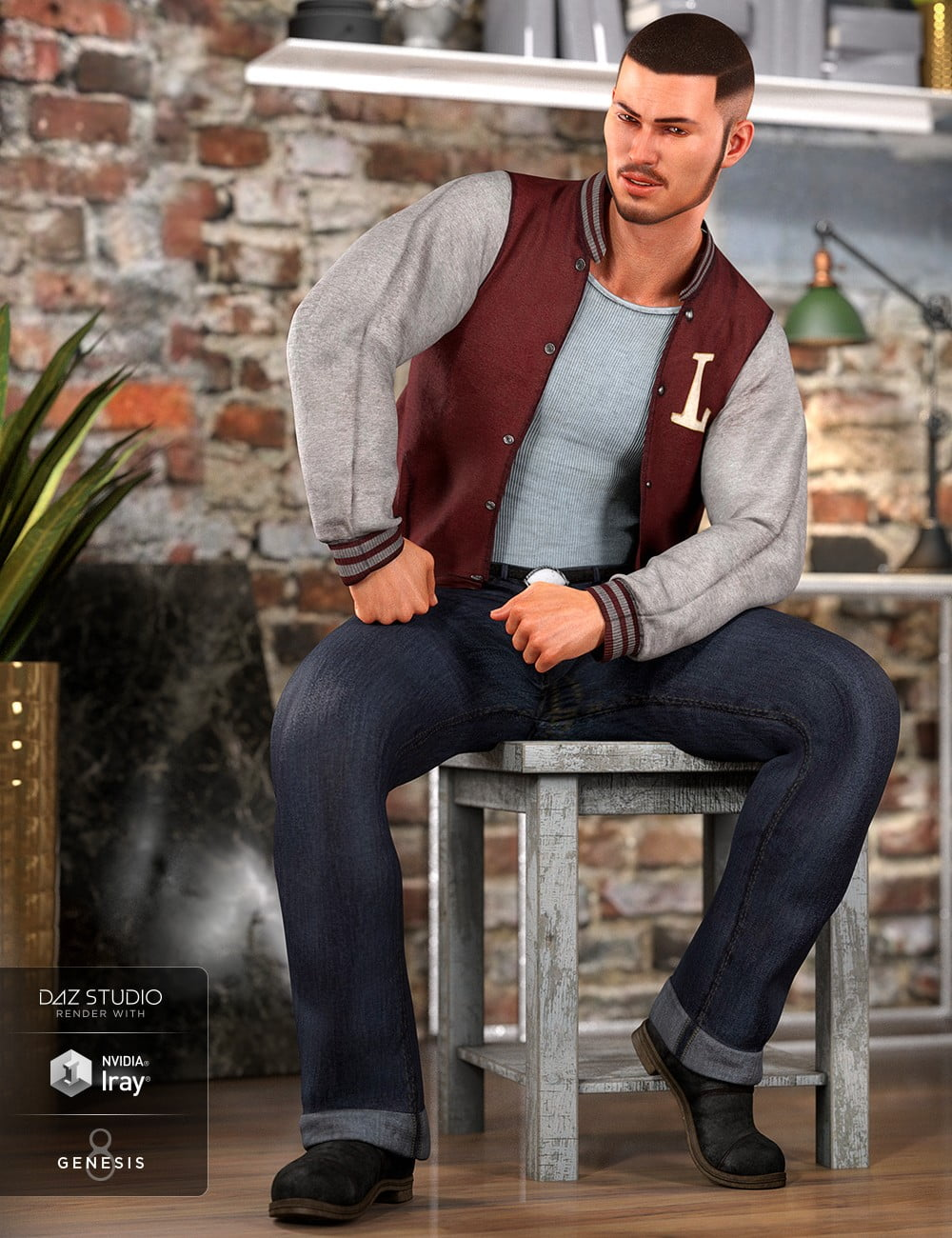 dForce Outsider Outfit for Genesis 8 Male(s)