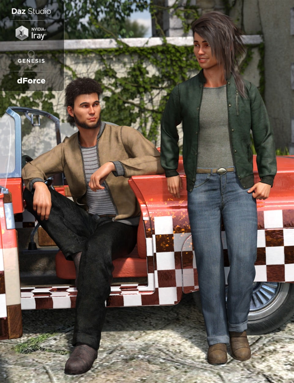 dForce Outsider Outfit Textures