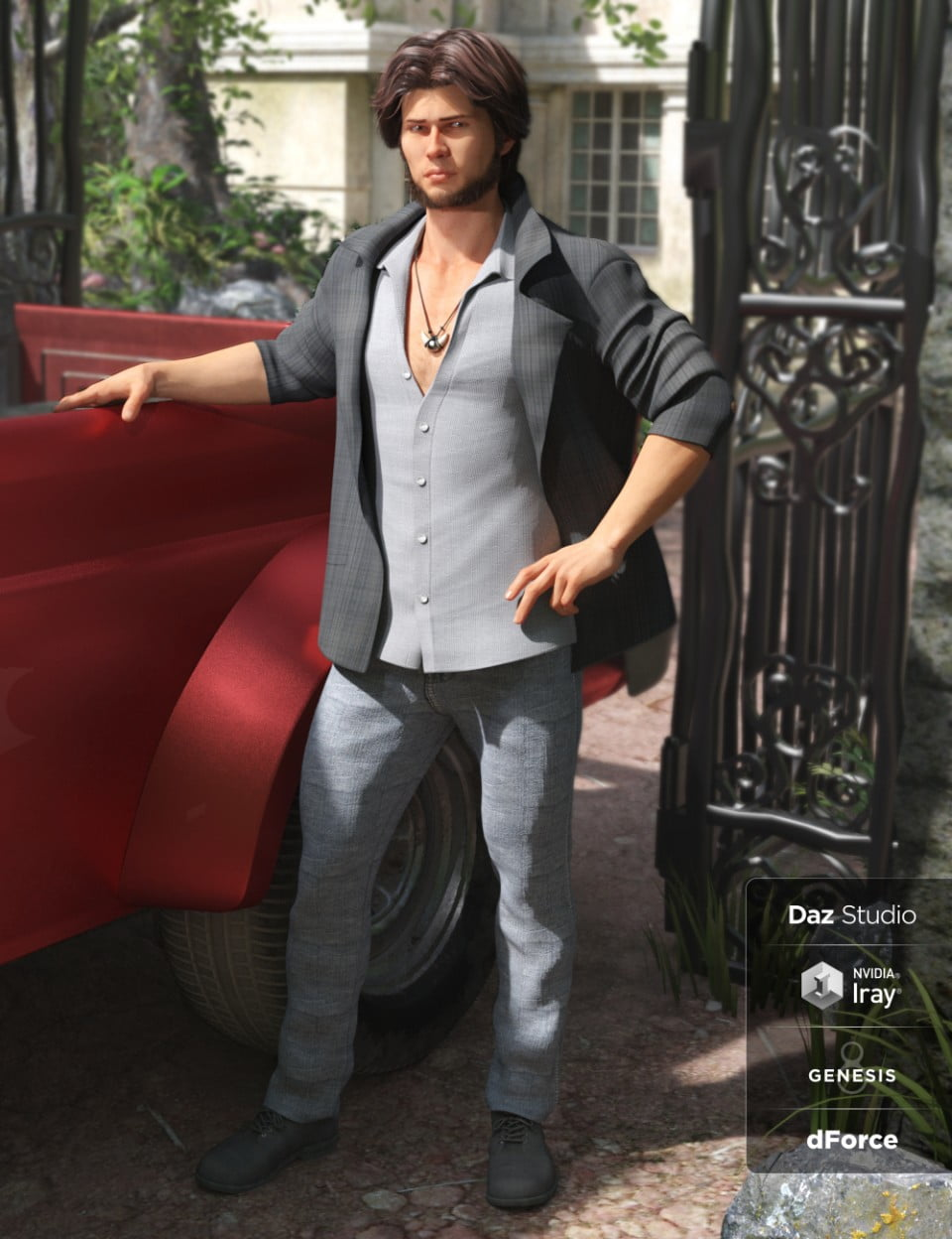 dForce Pack Leader Outfit for Genesis 8 Male(s)
