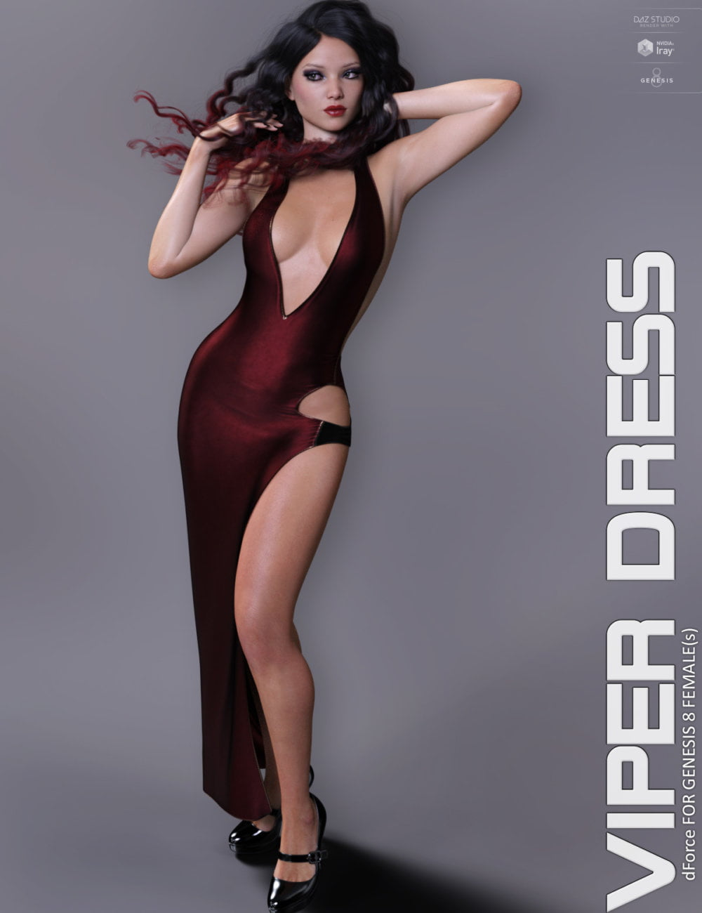 dForce Viper Dress for Genesis 8 Females