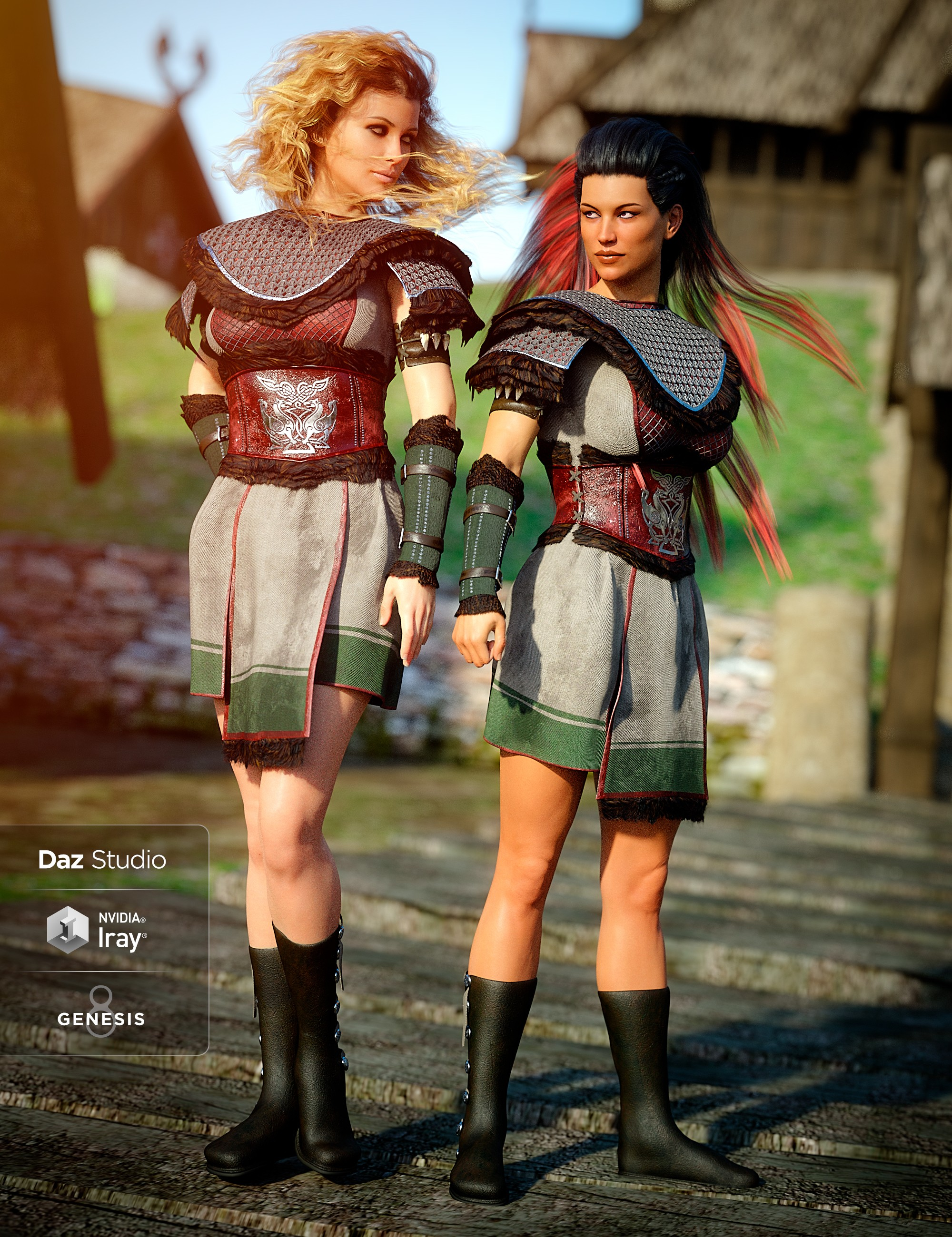 Tribal Warrior Queen Outfit for Genesis 8 Female(s)